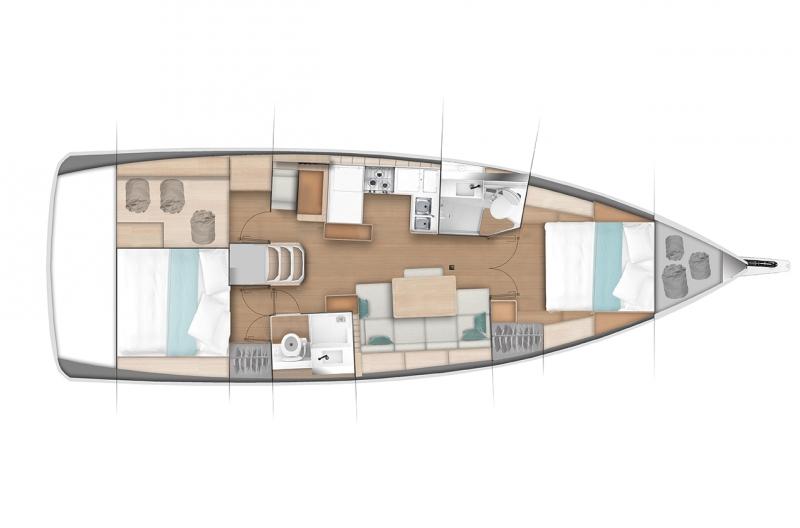 Sun Odyssey 440 - 2 cabin BD_d