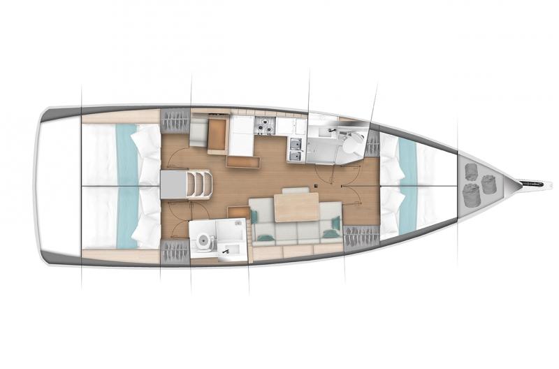Sun Odyssey 440 - 4 cabin BD_d